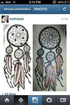 Dream catcher tattoo idea