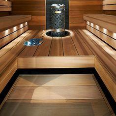 Saunagalleria I SUN SAUNA Oy I Ideoita saunaremonttiin, saunaideat Sauna Design, Saunas, Bathroom Interior Design, Modern Bathroom, Bathroom Lighting, Relax, Popup, Gardening, Sauna Ideas
