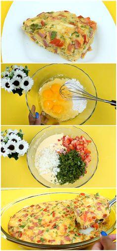 Receitas deliciosa de omelete de forno, surpreenda a todos com essa ótima opção, renderá elogios. #receita #gastronomia #culinaria #comida #delicia #receitafacil #cozinha #acompanhamento #omeletedeforno  #omeletefacil #oneletecaprichado #receitadeomeletedeforno #omeletecomverduras Brunch, Low Carb, Gluten, Cooking Recipes, Eggs, Breakfast, Food, Flour Recipes, Healthy Recipes