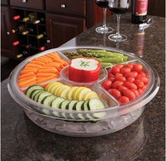 Three Piece Acrylic Container By Tropix This Chiller