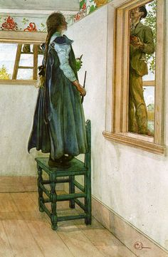 Carl Larsson. Interior and exterior worlds.
