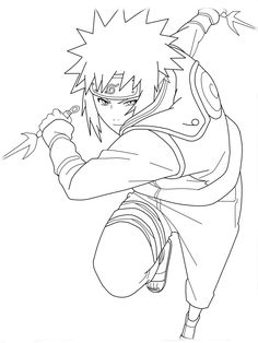 cartoon naruto coloring pages for kids free coloring pages for kids - Naruto Coloring Pages