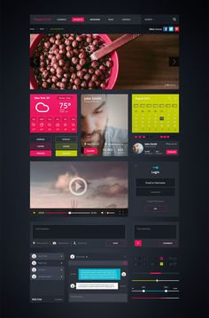 Roshie UI Kit – PSD Template by moq on Creative Market