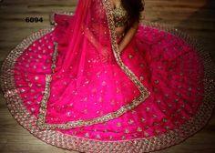 Rani Pink Bollywood Designer Wedding Lehengas