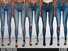 9 ripped skinny jeans Found in TSR Category 'Sims 4 Female Clothing