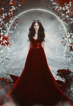 The Dragon Snow Queen by charmedy.deviantart.com on @DeviantArt