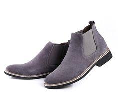 Amazon.co.jp: formanism カジュアル キレイめ 牛革 サイドゴア ショート ブーツ メンズ (グレー 42): シューズ&バッグ:通販
