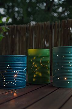 Lanterns from old tin cans, tealights from tin cans, samples in c . - : Lanterns from old tin cans, tealights from tin cans, samples in c . Tin Can Crafts, Diy Home Crafts, Diy Home Decor, Crafts For Kids, Room Decor, Tree Crafts, Tin Can Lanterns, Craft Projects, Projects To Try
