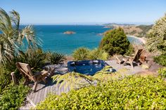 Huntaway Lodge Northland, New Zealand. Bay Of Islands, Beach Fun, Luxury Real Estate, New Zealand, Paradise, Spa, Deck, Relax, Mountains