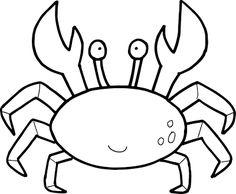 Aneka Gambar Mewarnai - Gambar Mewarnai Kepiting Untuk Anak PAUD dan TK.
