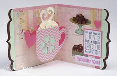 The Dining Room Drawers: Hot Chocolate card using Pop n Cuts Mug & Heart Insert from Journey Collection