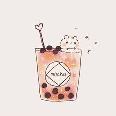 I like the pink drink😊 - - - - ⭐️ Interested in commissions? Check bio/highlights for more details! Feel free to DM me if you have any… Cute Kawaii Animals, Cute Animal Drawings Kawaii, Kawaii Art, Tea Wallpaper, Kawaii Wallpaper, Cute Food Drawings, Cute Cartoon Drawings, Stickers Kawaii, Cute Stickers