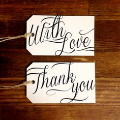 【 Thank you/with Love paper tag】