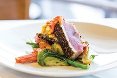 Pepper-Crusted Ahi Tuna Recipe from Charles Clark of Ibiza, Brasserie 19 and Coppa