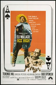 Ace High / Vier für ein Ave Maria / I quattro dell' Ave Maria Vintage Classics, Vintage Movies, Vintage Style, Movie Poster Art, Film Posters, Westerns, Terence Hill, Western Movies, Le Far West