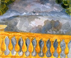 Amarillento pontezuelo.   «The Terrace at l'Estaque, en la concepción de Raoul Dufy (1908)».