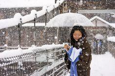 Girl wearing Yukata at traditional Ryokan in white Japanese winter | Flickr - Photo Sharing!