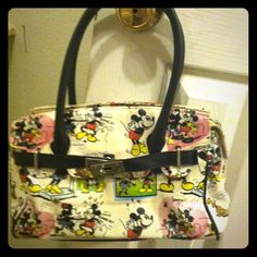 Mickey and Minnie Mouse purse From Disney World , in ok condition not ripped, Bags