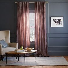 Stella Curtain - Sugar Plum #westelm love the color of curtains with the wall color