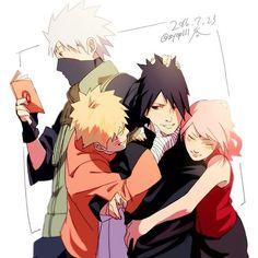 Team7 - Kakashi, Naruto, Sakura y Sasuke