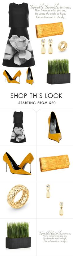 """""""Twinkle."""" by schenonek ❤ liked on Polyvore featuring Carolina Herrera, Paolo Shoes, Tiffany & Co., Crate and Barrel and WallPops"""