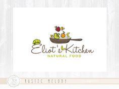 Bakery Logo Design Kitchen Logo Vegan Food Logo by RusticMelody1
