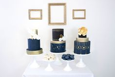 Black, Gold, and Navy Beauty