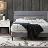 Shop Colette Platform Bed - On Sale - Overstock - 28165569 Upholstered Bed Frame, Headboard And Footboard, Bedroom Furniture Stores, Furniture Deals, Furniture Outlet, Furniture Online, Adjustable Beds, Large Furniture, Bed Design