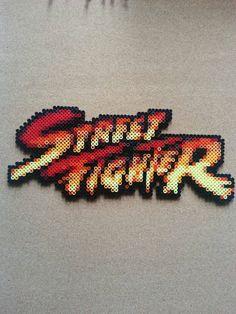 Street Fighter perler bead sprite