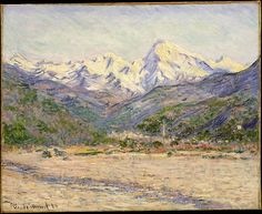 Claude Monet (French, 1840–1926). The Valley of the Nervia, 1884. The Metropolitan Museum of Art, New York. Theodore M. Davis Collection, Bequest of Theodore M. Davis, 1915 (30.95.251) #snow