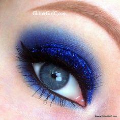 Blue Glittery Prom Makeup – Makeup Geek