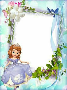 You are cordially invited to the royal celebration. Princess Sofia Birthday, Sofia The First Birthday Party, Happy Birthday, Picture Borders, Disney Frames, Princesa Sophia, Boarder Designs, Boarders And Frames, School Frame