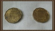 Britain 2 x 1967 three pence piece Elizabeth 2 by brianspastimes on Etsy