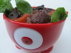 Meatball Salad by @PaleoParents