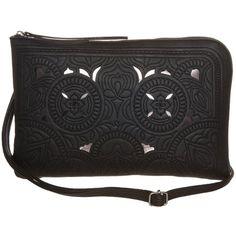 Elegante schwarze Clutch mit Lochmuster 29,95€ ♥ Hier kaufen: http://www.stylefru.it/s94554 #Tasche #Clutch #Schwarz #Lochmuster