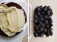 Cocoa Layer Cake with Blackberries and Mascarpone Cream recipe.