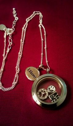 """Peace, Love, and Happiness"" Origami Owl Locket"