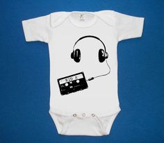 KID A Radiohead headphones with cassette baby by LIttleAtoms, $15.00