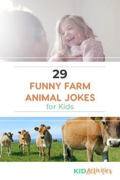A collection of 29 funny farm animal jokes for kids. Appropriate for kids of all ages. Funny Riddles, Funny Animal Jokes, Funny Jokes For Kids, Silly Jokes, Funny Animals, Kid Jokes, Farm Jokes, Funny Farm, Farm Animals For Kids