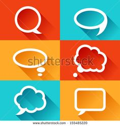 stock-vector-set-of-speech-bubbles-in-flat-design-style-155485220.jpg (450×470)