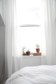 White, bright bedroom