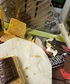 #Camping wouldn't be complete without the iconic s'mores. Today we explore them...#Toastilla style. www.toastilla.net  #toaster #tortillas #kickstarter #sosimple #sharktank #yum #yummy #smores #chocolate #marshmallows #grahamcrackers #comingsoon