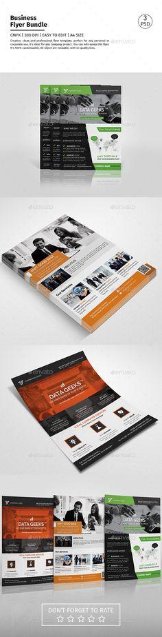 Corporate Flyer Bundle Template PSD #promote Download: http://graphicriver.net/item/corporate-flyer-bundle-11/13216379?ref=ksioks