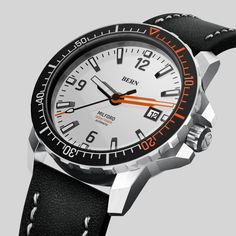Coming Soon to kickstarter, register your interest today at bernwatch.com  Bern Milford Featuring a 42mm 316L Brushed Stainless Steel Case, powered by Miyota 8215 Automatic movement, 300m/1000ft Dive depth, unidirectional clicking bezel with Swiss X1-Grade GL-C3 Superluminova on indexes, hands and aluminium bezel insert. Anti Reflective coated Sapphire Crystal. One of the most awaited dive watch launches of 2019 Brushed Stainless Steel, Bern, Watch Brands, Smart Watch, Watches For Men, Product Launch, Sapphire, Crystal, Black