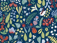by scand des. Cole Son, Stig Lindberg, Scandinavian Design, Color Patterns, Wallpaper, Illustration, Fabric, Prints, Designers