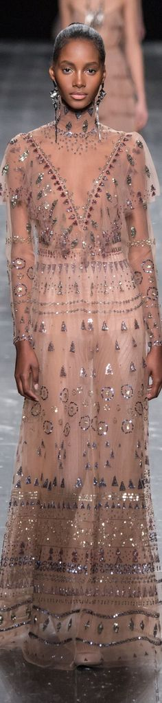 Valentino fall 2016 RTW we love elegant bohemian touch shine from payette beading will give movement and visual interest.