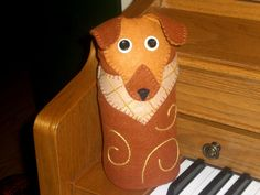 As promised, I completed the pattern and directions for our Puppy Dog Doorstop, Horace. Although I love the Kitty Cat Doorstop, Jasper, I'm a dog person, and this little guy just tickles my fancy! In the directions I included the felt and embroidery floss colors I used, but go wild with your own interpretation! …