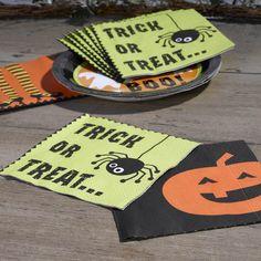 Halloween- Napkins- Happy Halloween