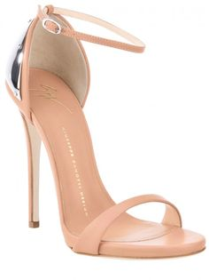 GIUSEPPE ZANOTTI leather sandal-Nude Leather, so sexy.