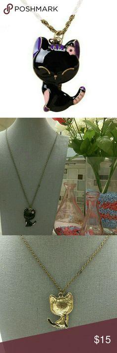 Cute cat pendant necklace New cat pendant necklace. Very cute. Jewelry Necklaces